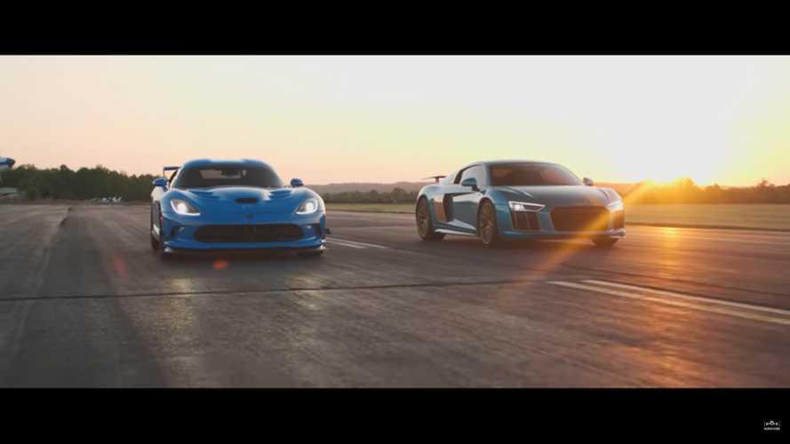 Dodge Viper Drag Races Audi R8 In America Vs Europe V10 Battle