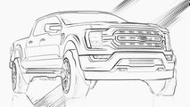 2021 Ford F-150 and Bronco Coloring Pages
