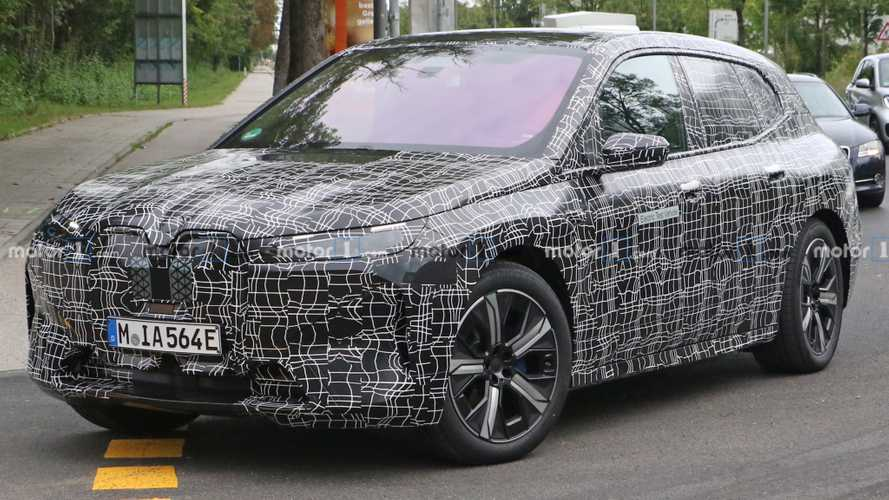 BMW iNext Electric SUV Spied Up Close Losing Some Cladding