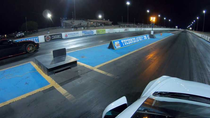 Watch Tesla Model 3 Performance Drag Race Modified Chevy Corvette Z51