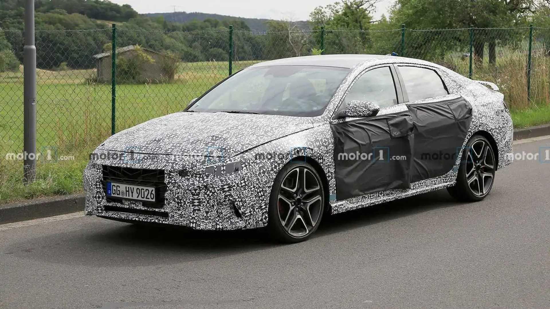 3 Hyundai Elantra N Spied On Video Lapping The Nurburgring