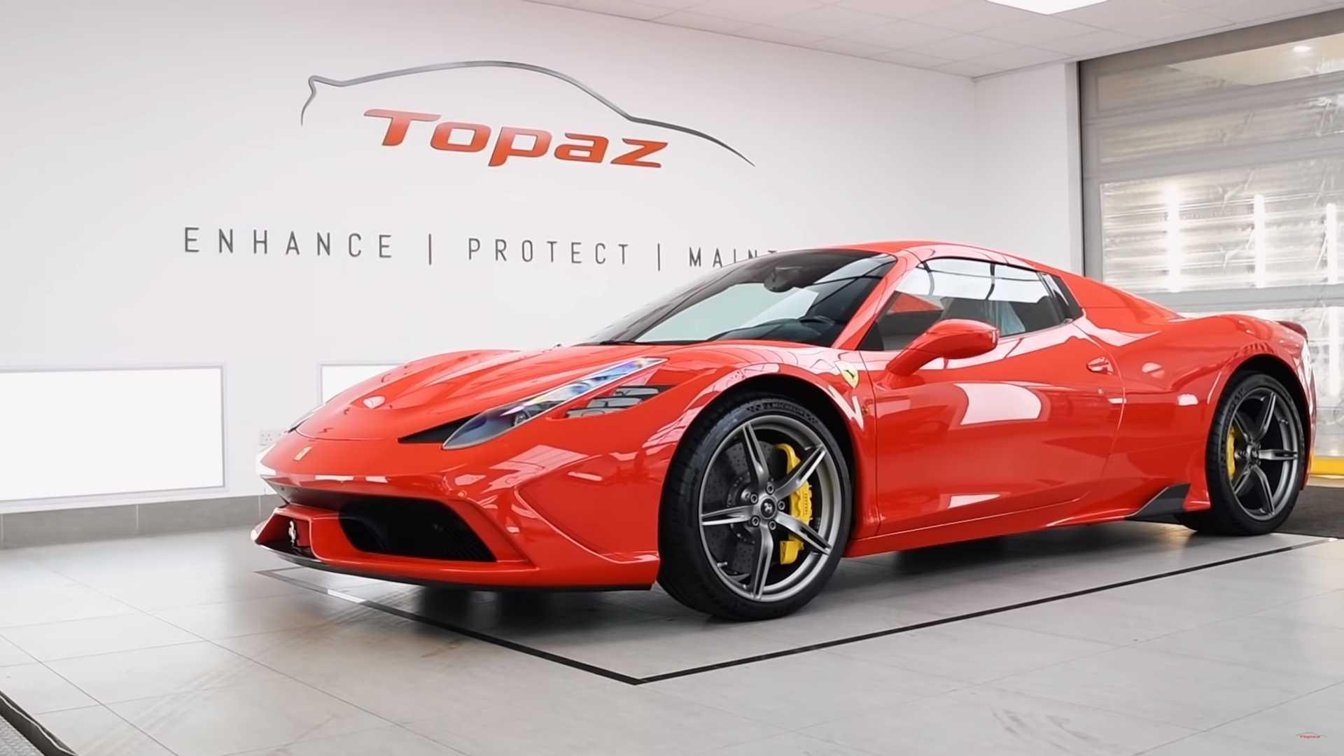 See Ferrari 458 Speciale Aperta Receive A 100-Hour Topaz Detail