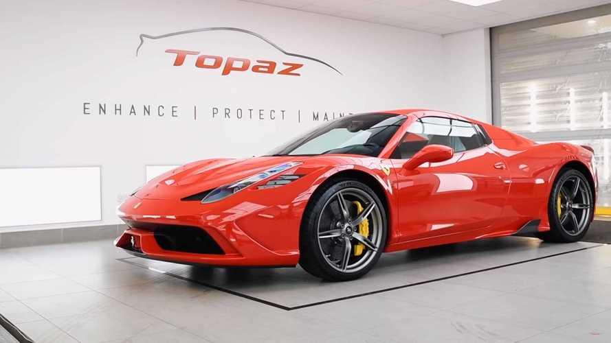 Ferrari 458 Speciale Aperta receives 100-hour Topaz detail