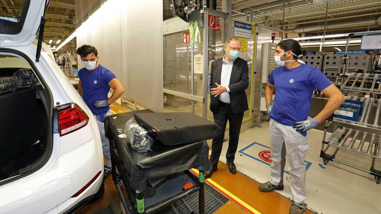 Volkswagen - Retorno da produção em Wolfsburg