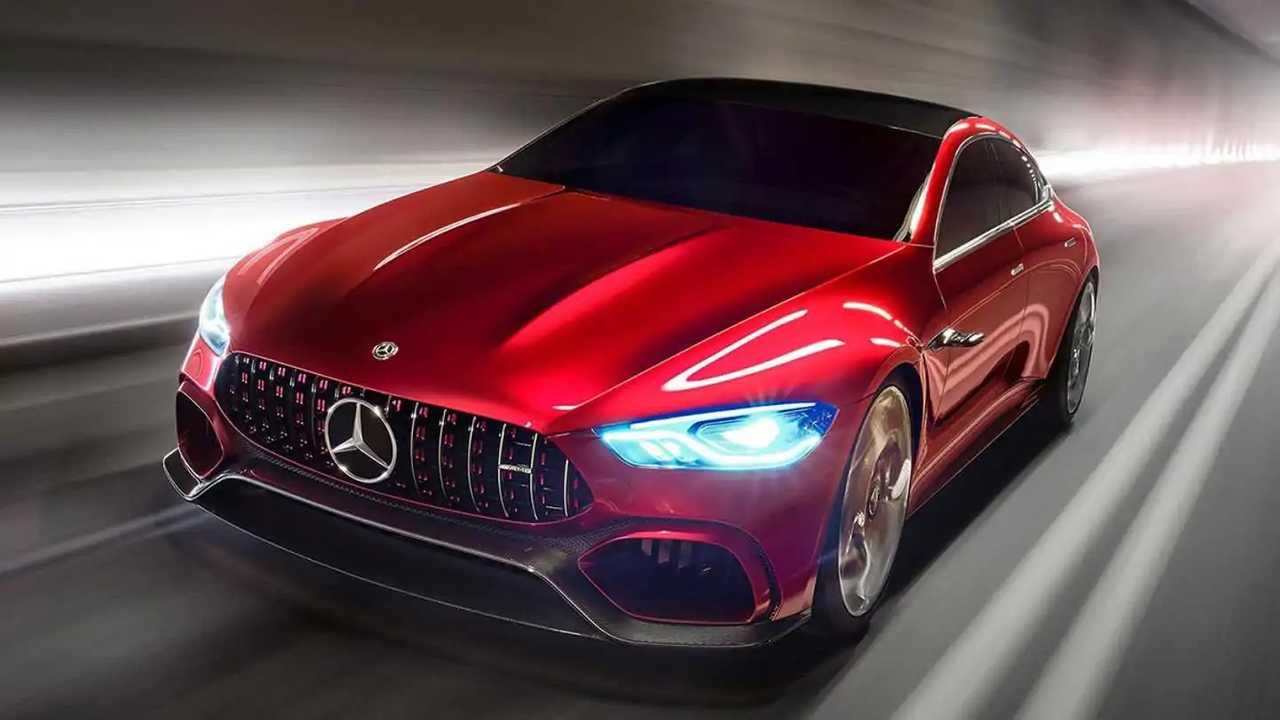 Mercedes показал большой гибридный хетчбэк AMG GT