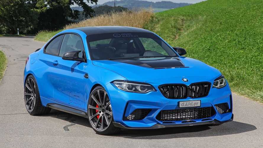 BMW M2 CS Tuned With Gold Wheels And Big Power Bump