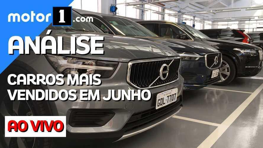 Análise Motor1.com AO VIVO: resultados comentados das vendas em junho