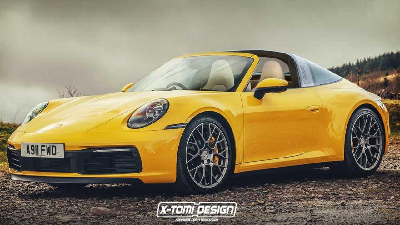 Porsche 911 Targa Rendering