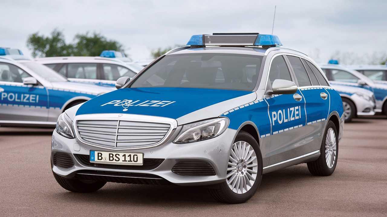 Polizeiautos in Deutschland: Mercedes C-Klasse