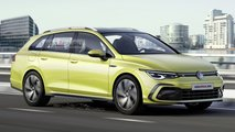 2021 VW Golf Variant new rendering