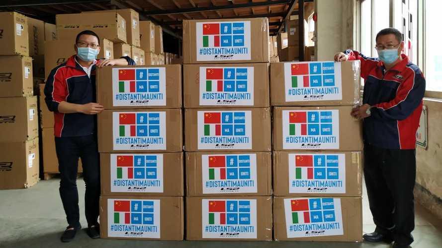 LS2: dalla Cina 5.200 mascherine per gli ospedali italiani