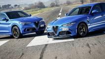 Alfa Romeo Stelvio vs Giulia Quadrifoglio, la Drag Race