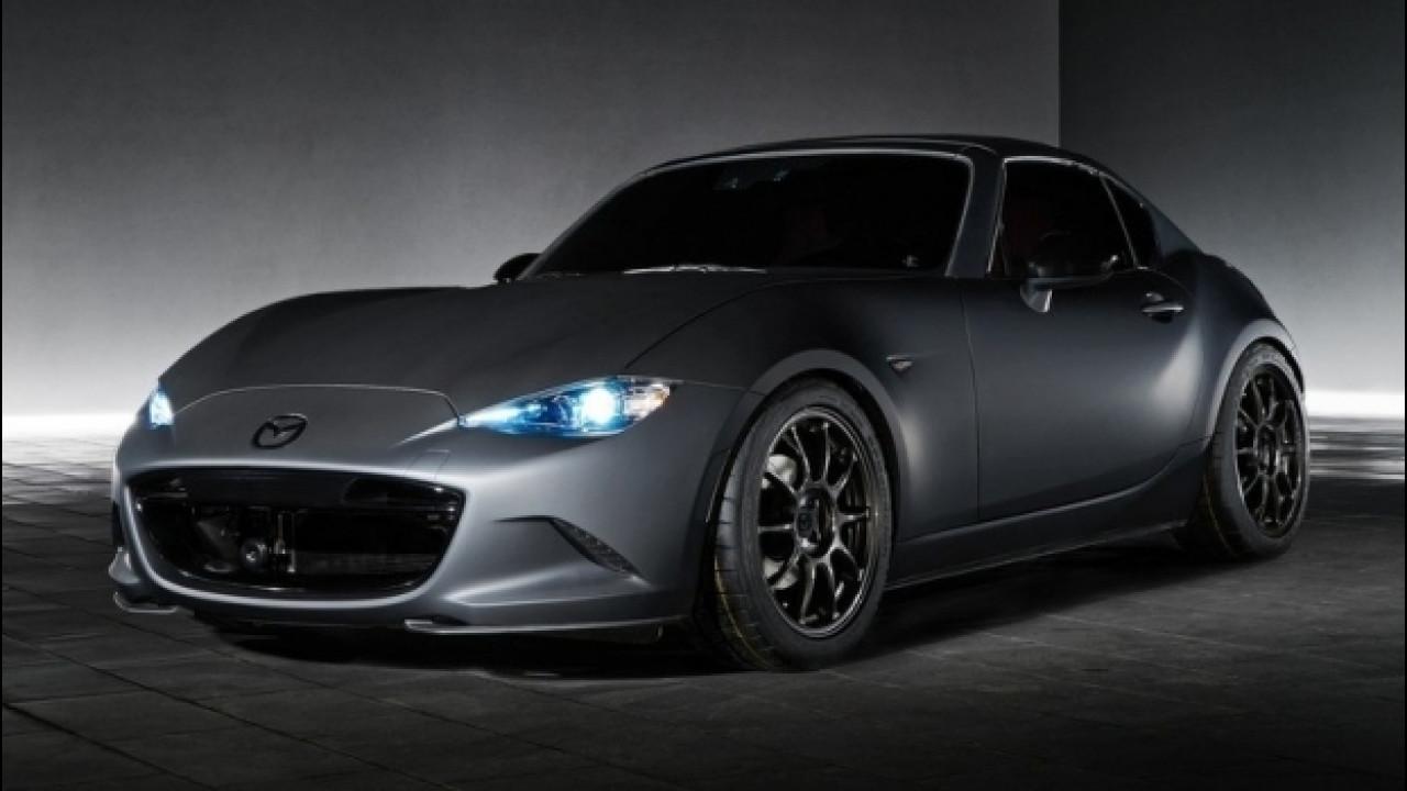 [Copertina] - Mazda al SEMA con la MX-5 Miata RF Kuro, dalle corse alla strada
