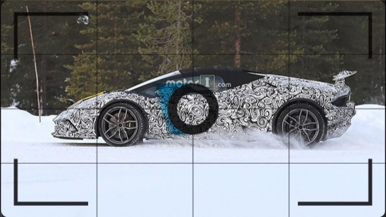 [Copertina] - Lamborghini Huracan Spyder Performante, le foto spia sulla neve