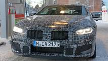 2019 BMW M8 spied at gas station in Sweden