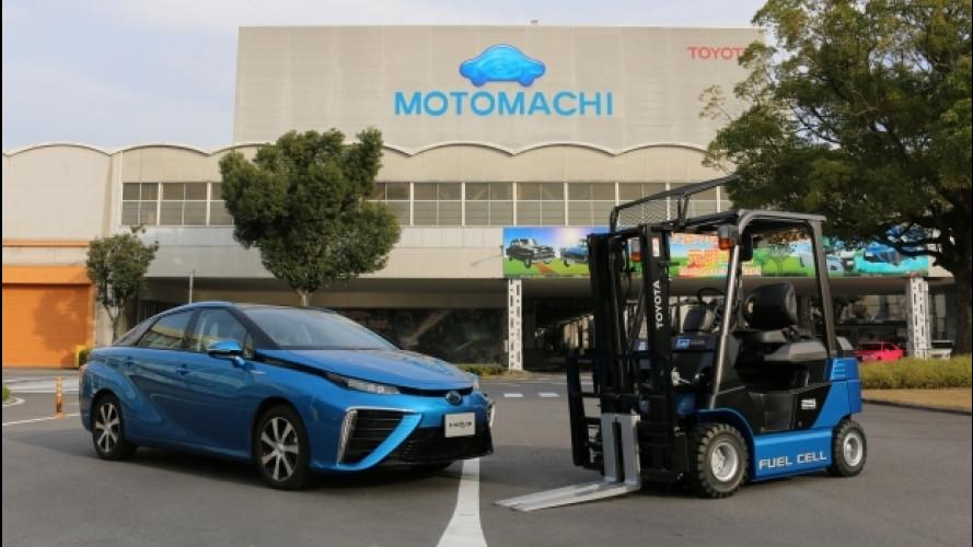 [Copertina] - Toyota, in fabbrica i muletti viaggiano a idrogeno