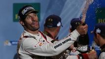 Podium- race winner Mark Webber, Porsche Team