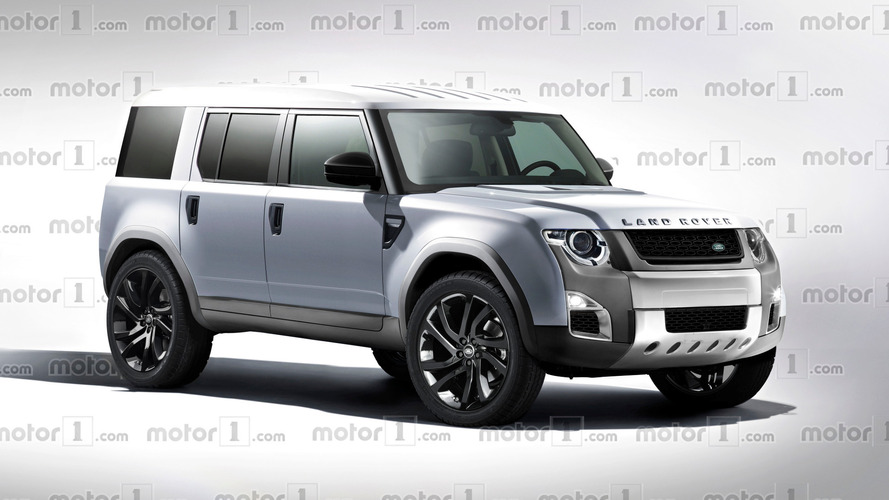 Render Land Rover Defender 2018