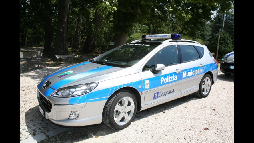 Otto Peugeot per la Polizia Municipale de L'Aquila