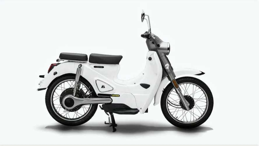 Here's A Closer Look At The Motron Cubertino Electric Moped