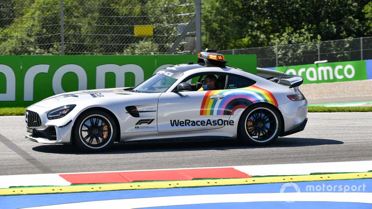 Safety Car with We Race As One logo at Austrian GP 2020