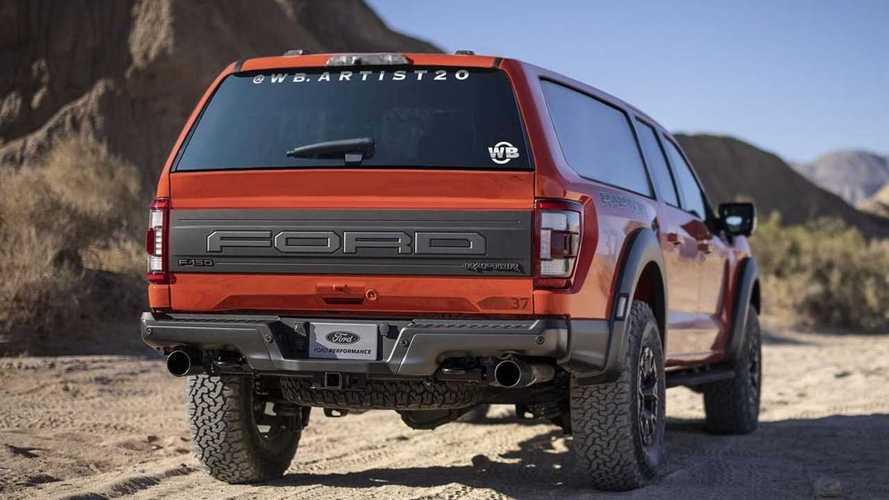 Rendering SUV Ford F-150 Raptor 2021