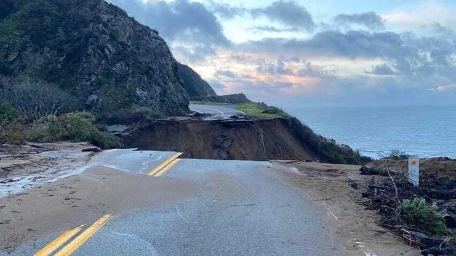 Part of California's famous Highway 1 just fell into the Pacific Ocean
