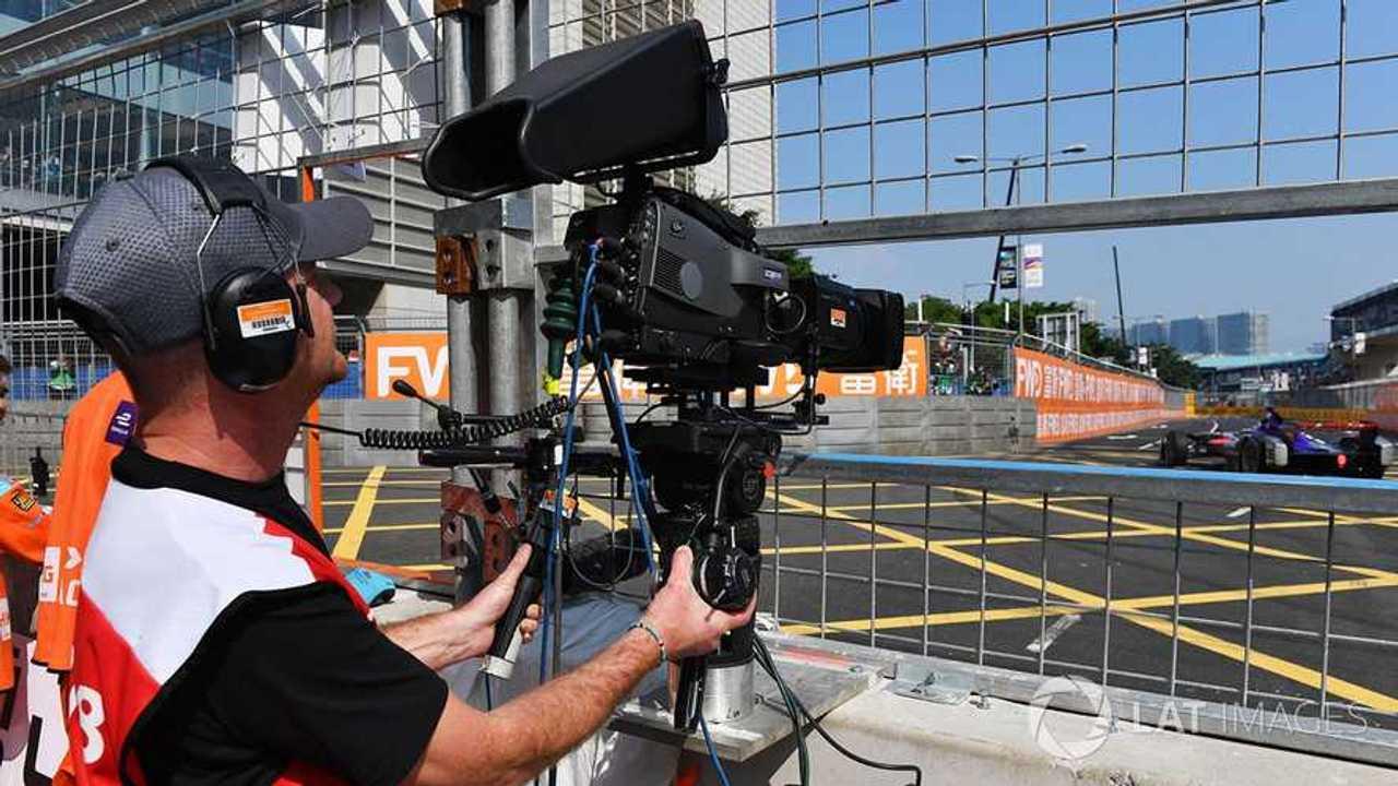 TV crew at work at Formula E Hong Kong ePrix 2017