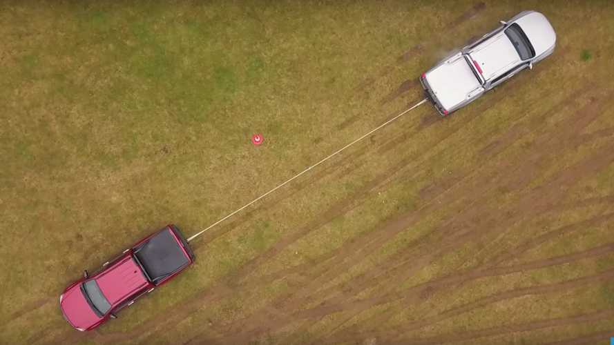 Mercedes X-Class battles Toyota Hilux, Isuzu D-Max in tug of war