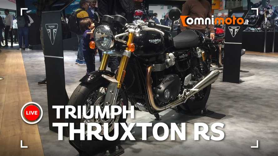 Triumph Thruxton RS 2020, le prime immagini [VIDEO]
