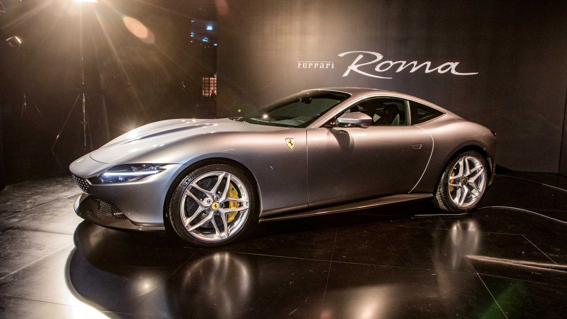 Ferrari Roma Shows Off Its Sleek Styling In Live Photos From Premiere
