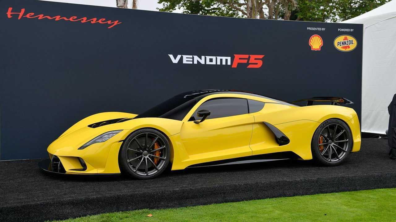 Hennessey Venom F5 is slightly stiffer than a Bugatti Chiron