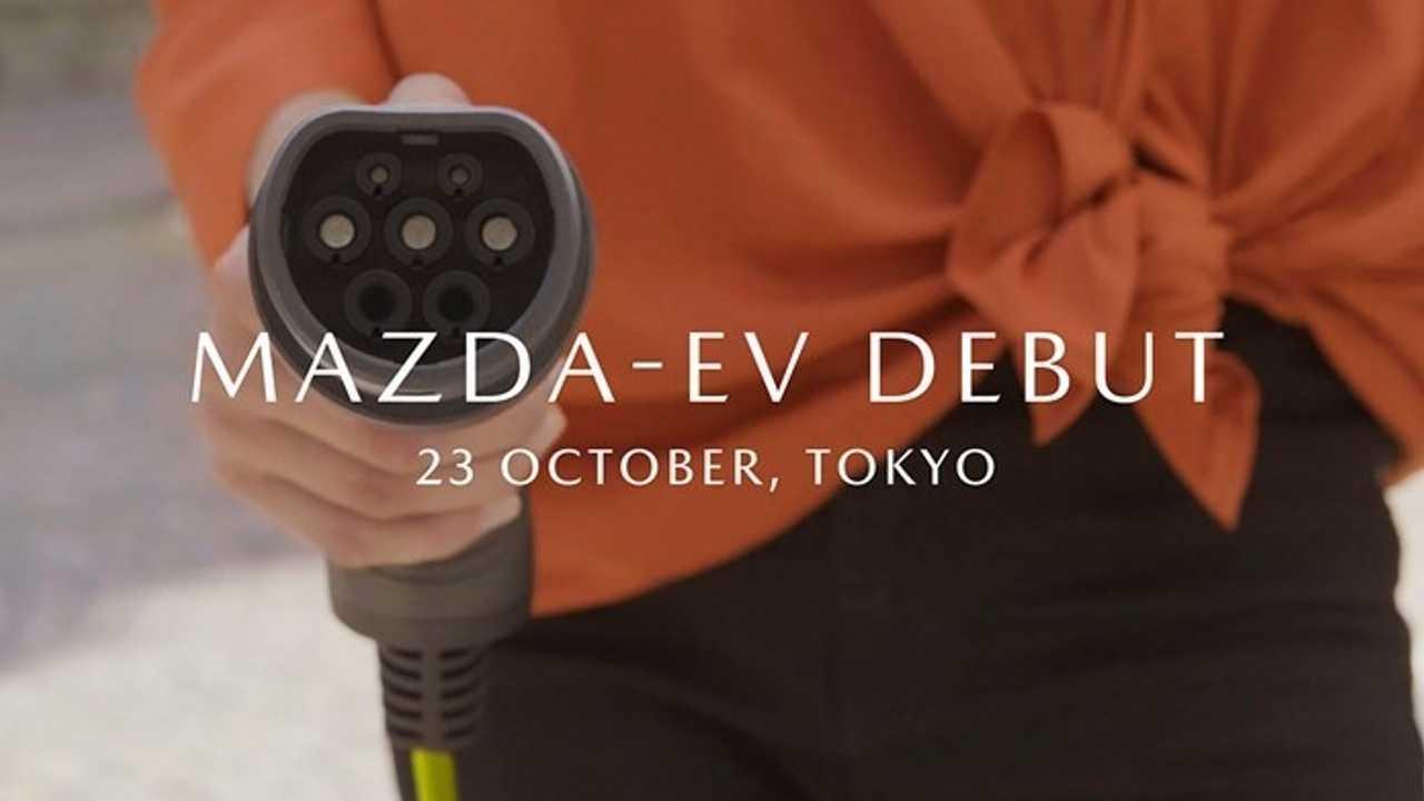Электрокар Mazda: тизер .