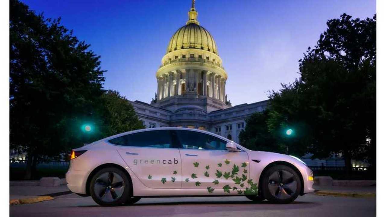 Tesla Model 3 taxi - Green Cab Madison