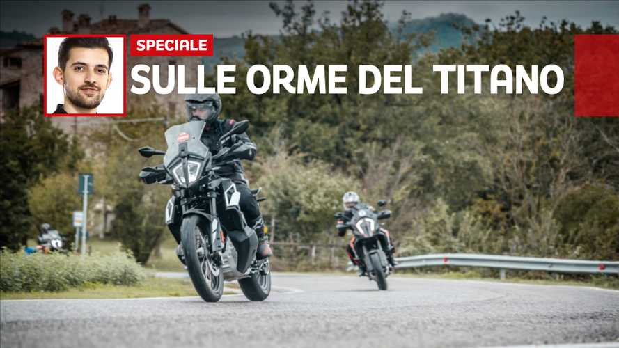 Orange Juice 2019 con la KTM 790 Adventure; la prova su strada