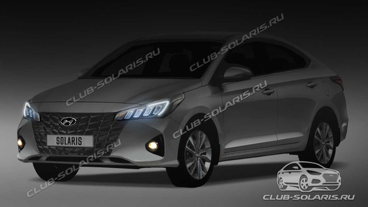 Рендер Hyundai Solaris для России