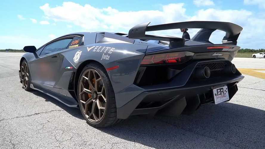 Lamborghini Aventador SVJ, prueba de máxima velocidad