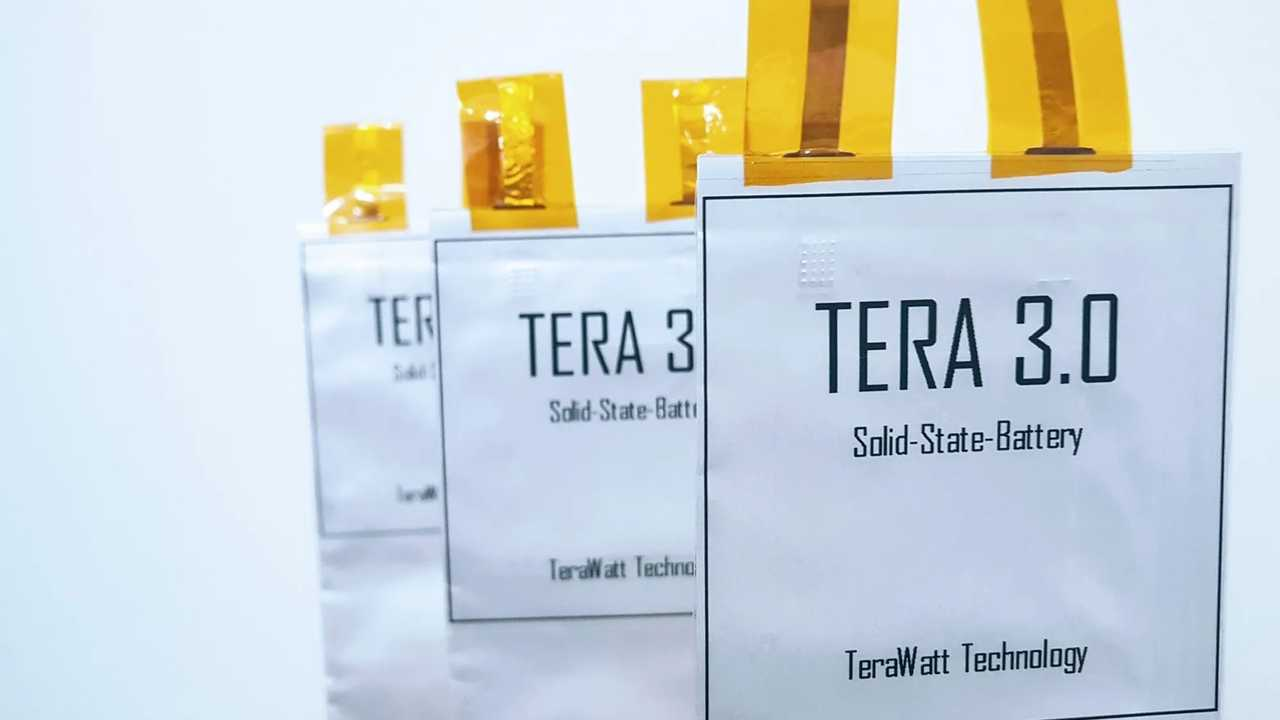 TeraWatt Technology Says Its Solid-State Battery reached 432 Wh/kg