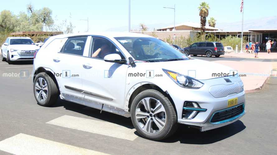 Genesis EV Crossover Test Mule Spied Wearing Kia's Clothes