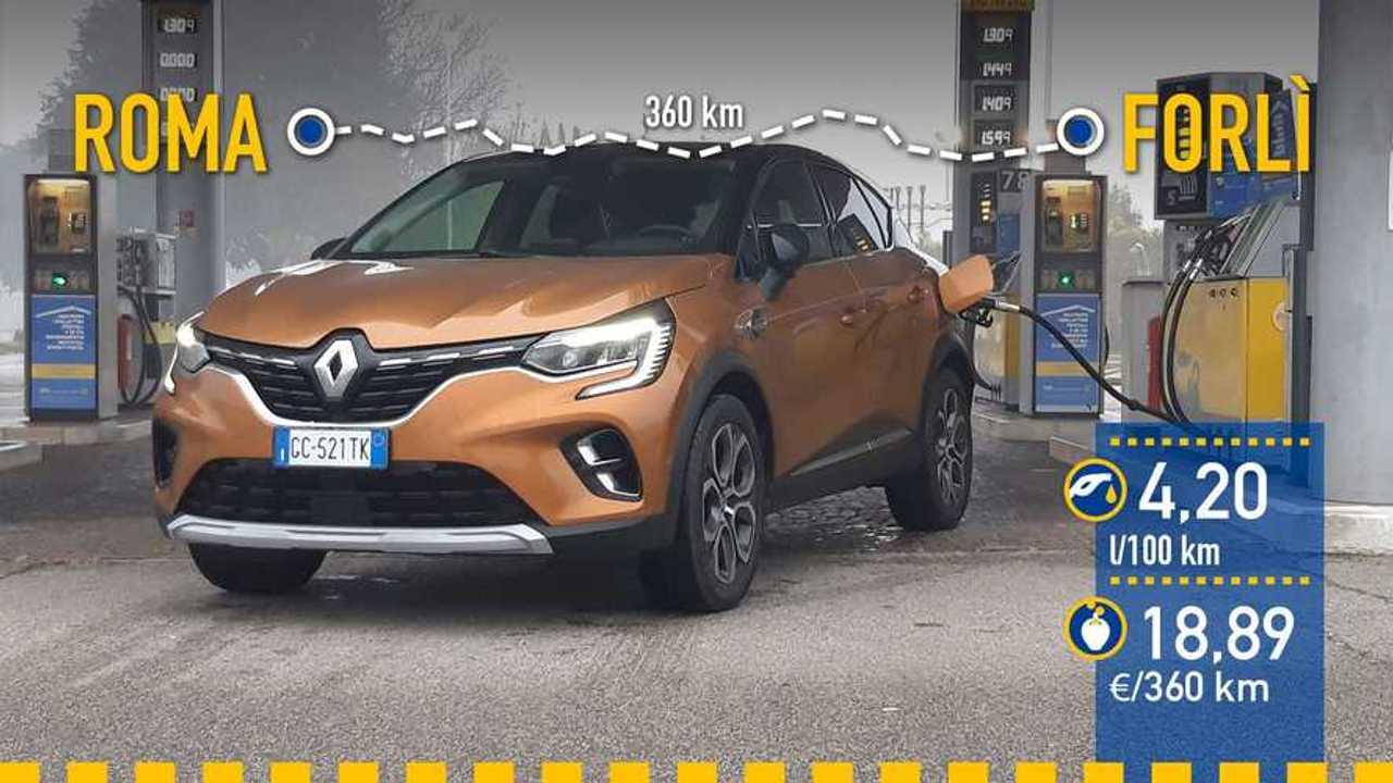 Renault Captur E-TECH, prueba consumo