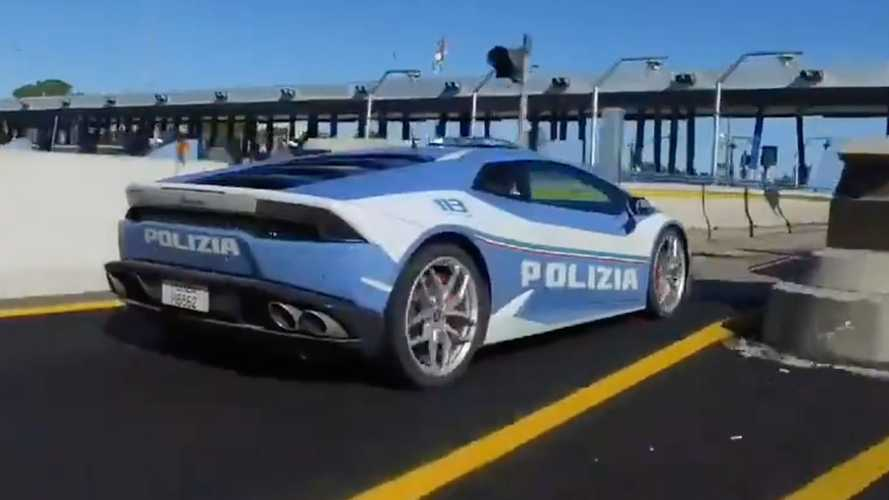 Watch Italian Huracan Police Car Rush To Deliver Life-Saving Organ