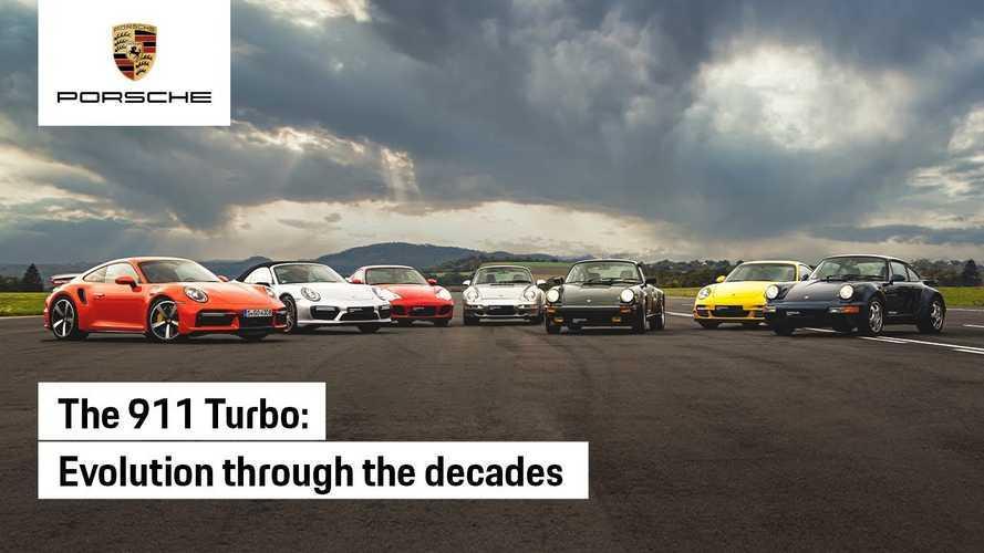 Porsche 911 Turbo'nun tüm jenerasyonları bir arada yarışıyor