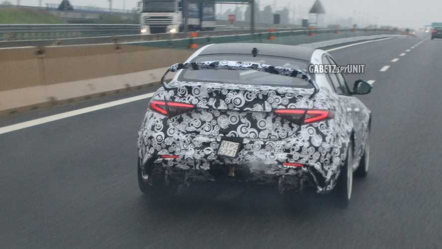 Alfa Romeo Giulia GTAm caught in the rain