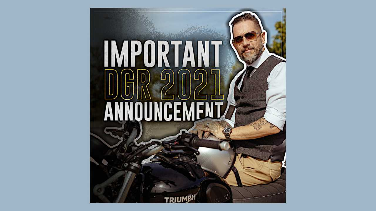 Distinguished Gentleman's Ride 2021 Announcement