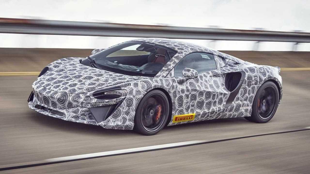 2021 McLaren hybrid supercar teaser image