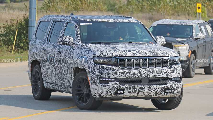2022 Jeep Grand Wagoneer Spied On The Street Looking Production Ready