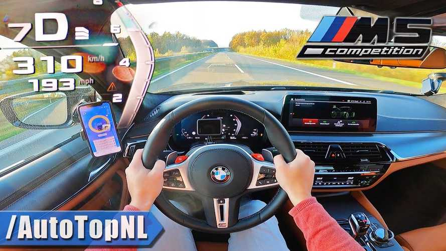 Watch the 2021 BMW M5 Competition eat up the Autobahn at 193 mph