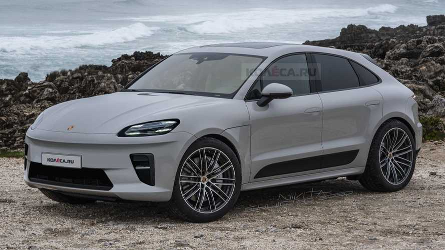 Macan Electric Rendered After Porsche 'Accidentally' Shows Clay Model
