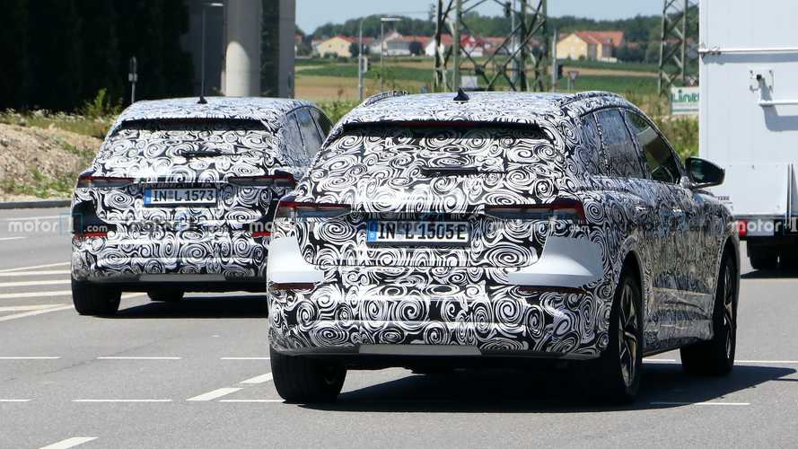 2021 Audi Q4 E-Tron Spied In Tandem With Another Prototype