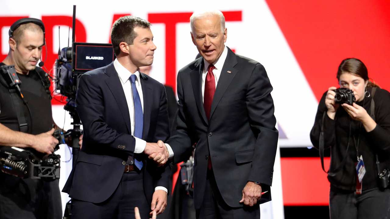 Pete Buttigieg and Joe Biden